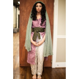 Ancient Persian – Women's Full Outfit,  Pink and Lt Green