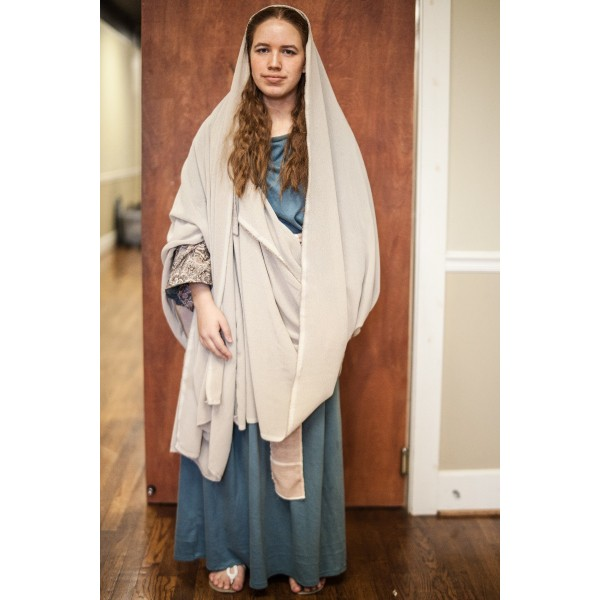 Biblical – Women's Full Outfit,  Teal and Tan