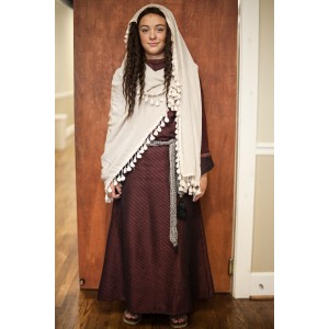 Biblical – Women's Full Outfit,  Burgundy