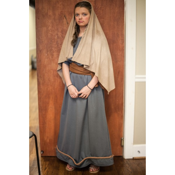 Biblical – Women's Full Costume,  Grey and Brown