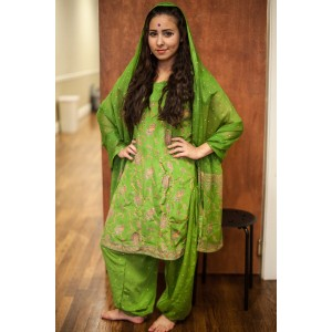 Ancient Persian – Women's Full Outfit,  Bright Green