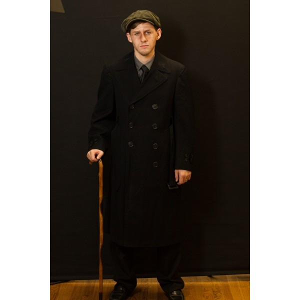 1940s – Men's Full Outfit,  Black Trench coat