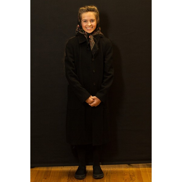 1940s – Women's Full Outfit,  Black Dress Coat