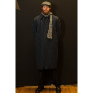 1940s – Men's Full Outfit,  Grey Trench Coat