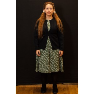 1940s – Women's Full Outfit,  Green and Navy