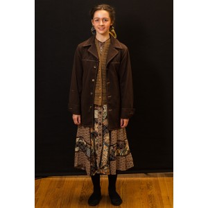 1940s – Women's Full Outfit,  Brown and Tan 2