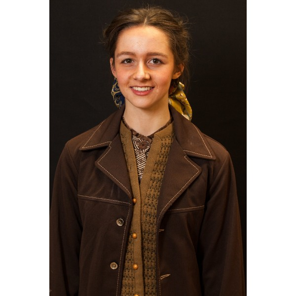 1940s – Women's Full Outfit,  Brown and Tan