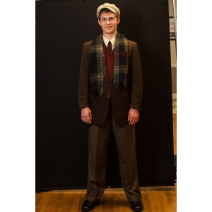 1940s – Men's Full Outfit,  Brown and Burgundy