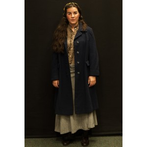 1940s – Women's Full Outfit,  Navy and Plaid