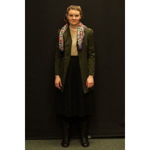 1940s – Women's Full Outfit,  Green and Black 2