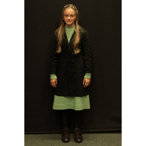 1940s – Women's Full Outfit,  Light Green and Black 2