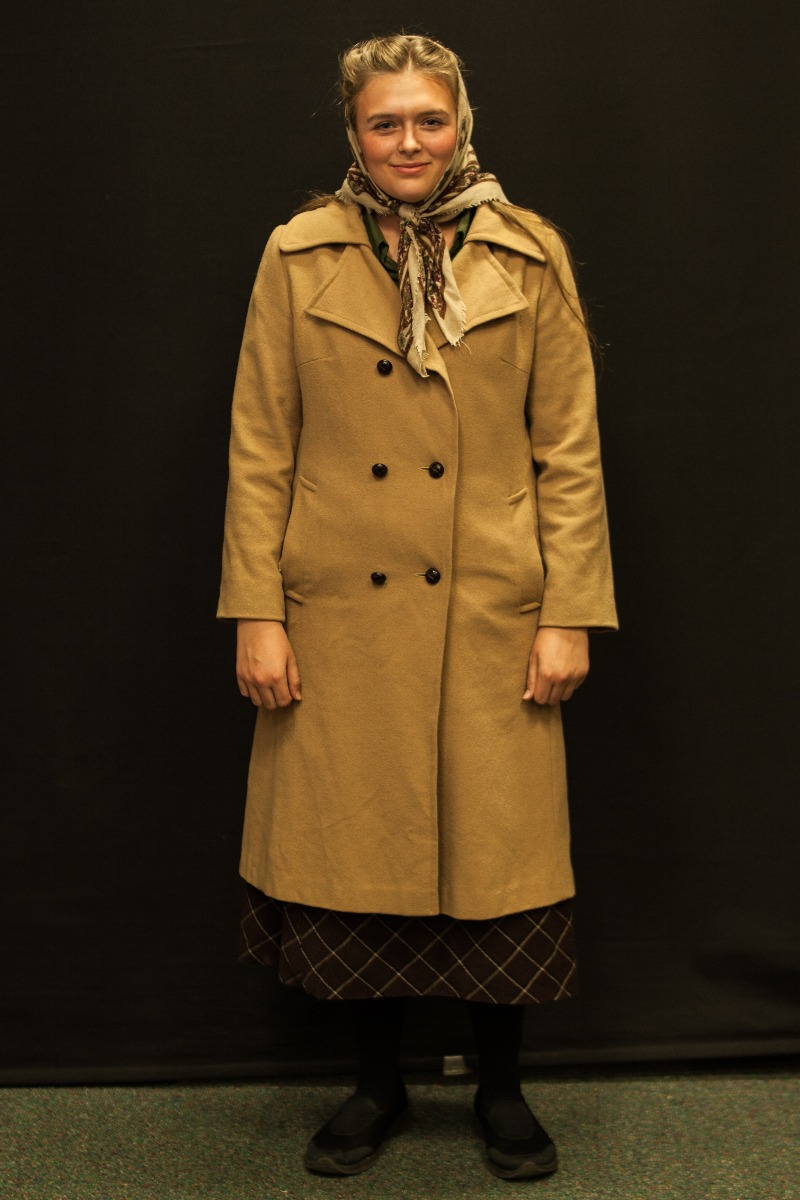 1940s – Women's Full Outfit,  Tan and Brown