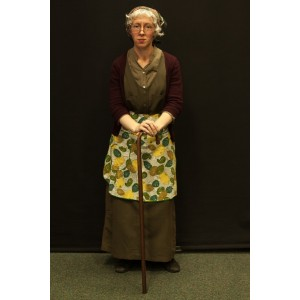 1940s – Women's Full Outfit,  Green and Burgundy 2