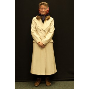 1940s – Women's Full Outfit,  Tan Coat