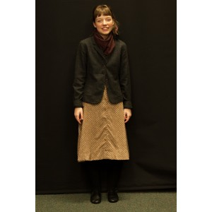 1940s – Women's Full Outfit,  Grey and Tan