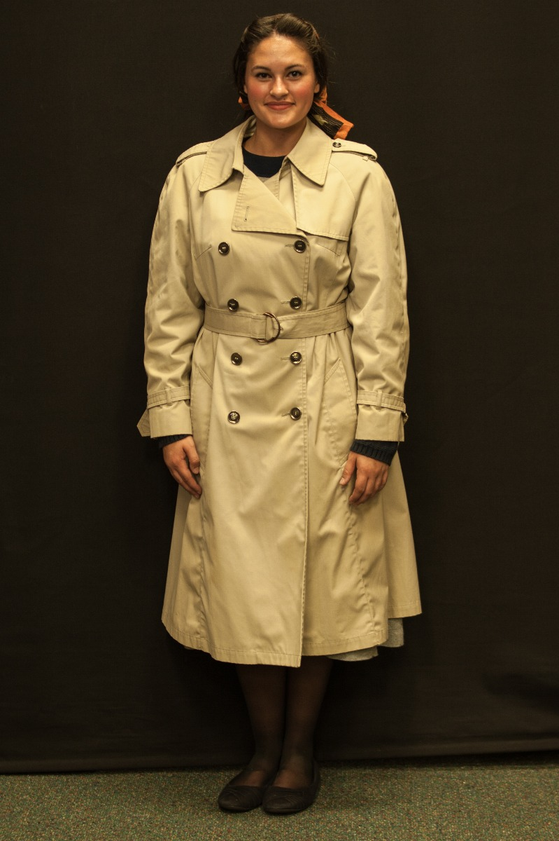 1940s – Women's Full Outfit,  Tan Coat 2