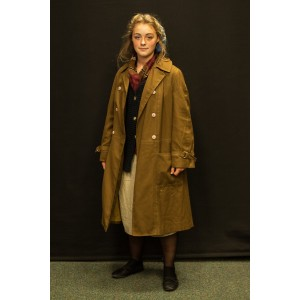 1940s – Women's Full Outfit,  Light Brown and Navy