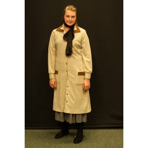1940s – Women's Full Outfit,  Cream and Brown 2