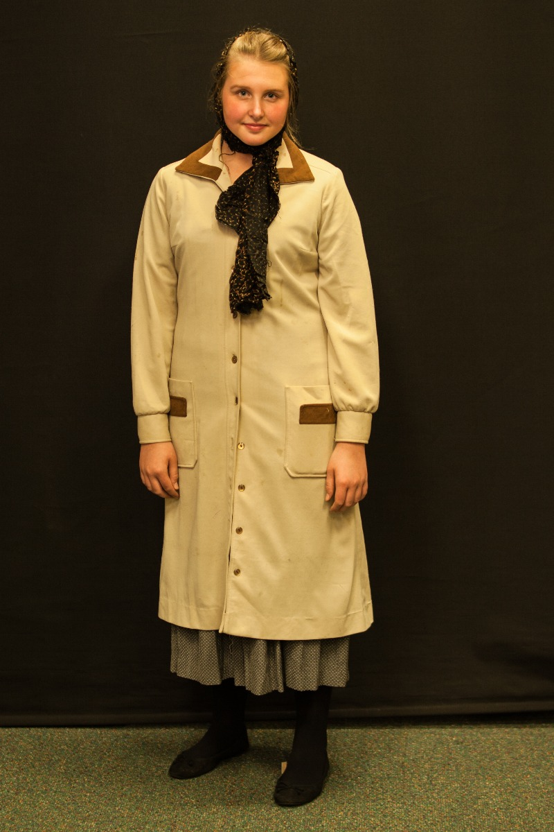 1940s – Women's Full Outfit,  Cream and Brown