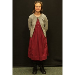 1940s – Women's Full Outfit,  Light Burgundy and Grey