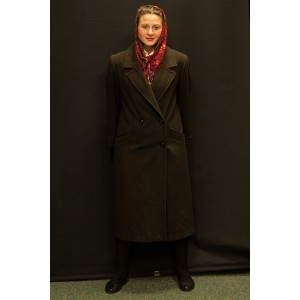 1940s – Women's Full Outfit,  Dark Brown and Burgundy 2