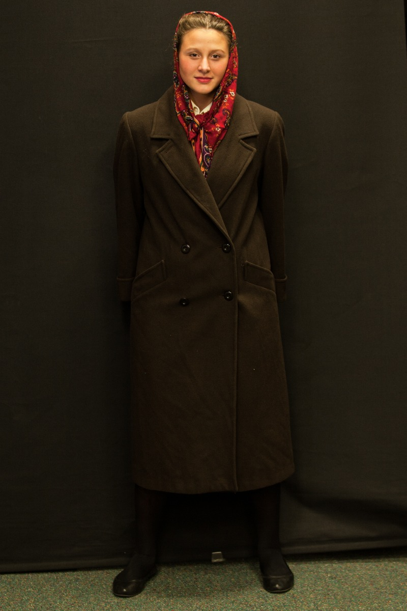 1940s – Women's Full Outfit,  Dark Brown and Burgundy