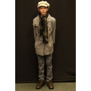 1940s – Child's Full Outfit,  Light Grey