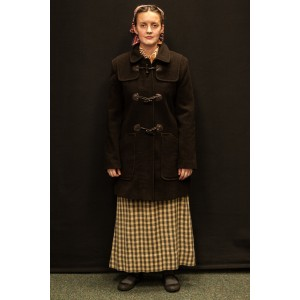 1940s – Women's Full Outfit,  Dark Brown and Green 2