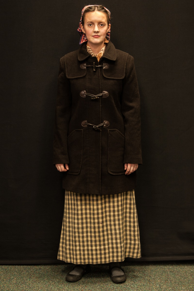 1940s – Women's Full Outfit,  Dark Brown and Green