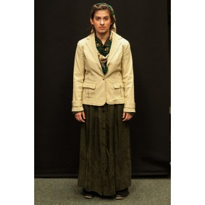 1940s – Women's Full Outfit,  Cream and Green 2