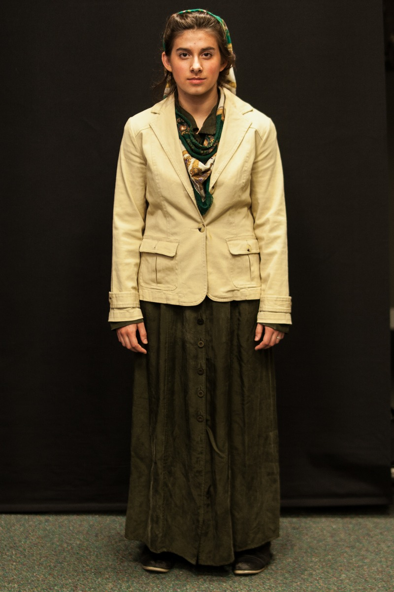 1940s – Women's Full Outfit,  Cream and Green