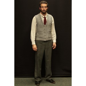 Narnia LWW 1940s – Men's Full Outfit, Grey Vest, Professor