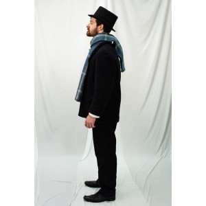 Dickens' Poor – Men's Full Outfit,  Blue Paid Scarf