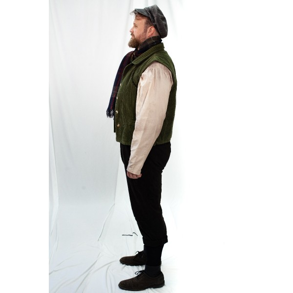 Dickens' – Men's Full Outfit,  Green Vest