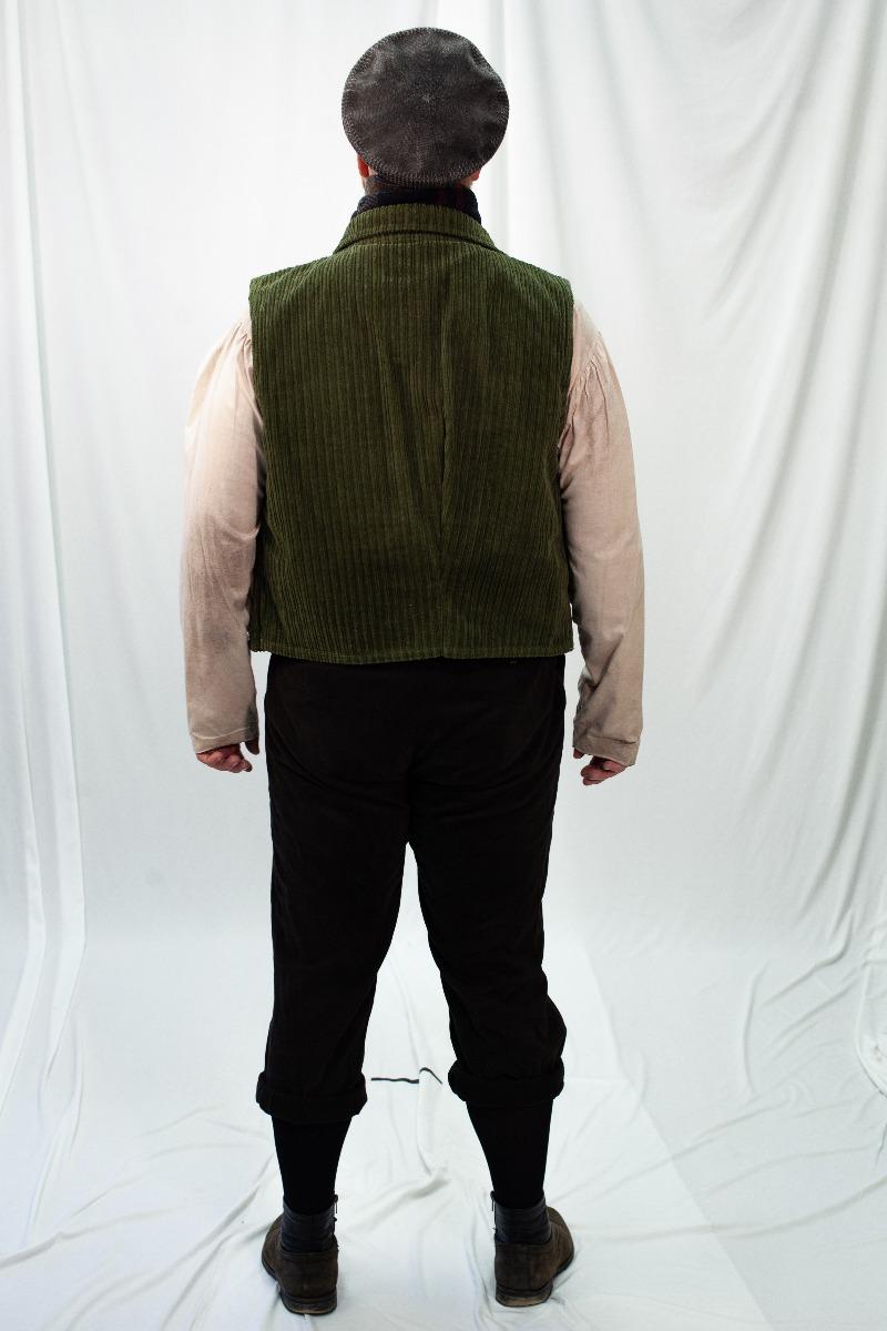 Dickens' – Men's Full Outfit,  Green Vest
