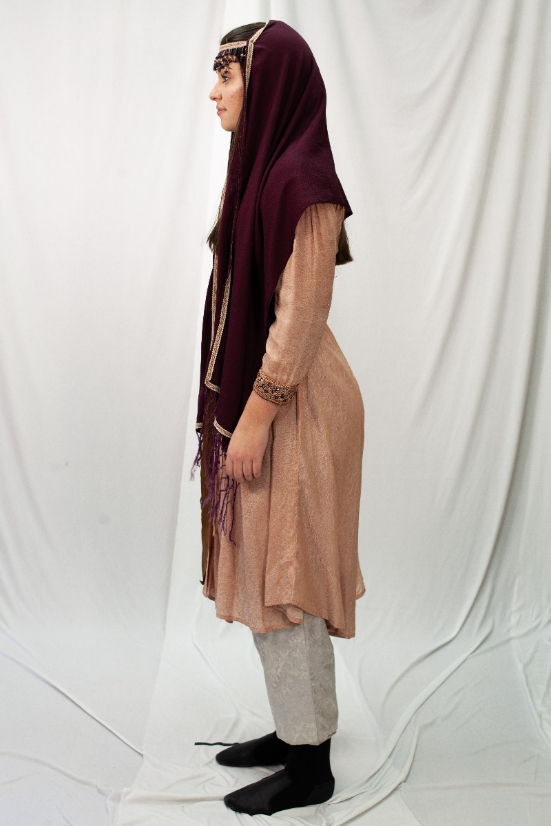 Ancient Persian – Women's Full Outfit,  Pink and Burgundy
