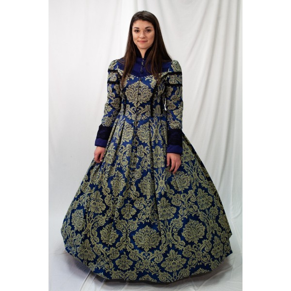 Dickens – Women's Full Outfit,  Blue and Green
