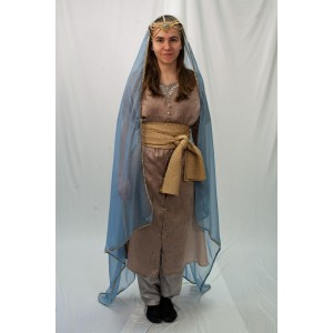 Ancient Persian – Women's Full Outfit,  Lt Blue and Tan