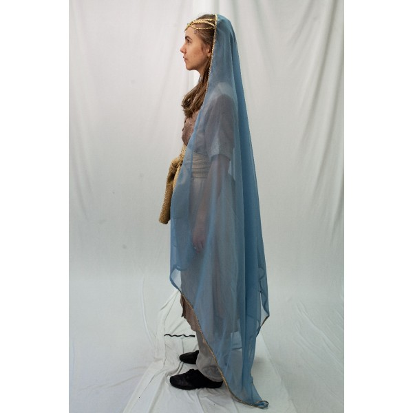 Ancient Persian – Women's Full Outfit,  Lt Blue and Tan 2