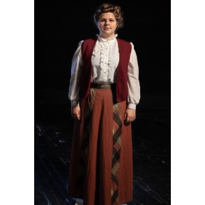 Bustle/Turn of the Century – Women's Full Outfit,  Burgundy 2