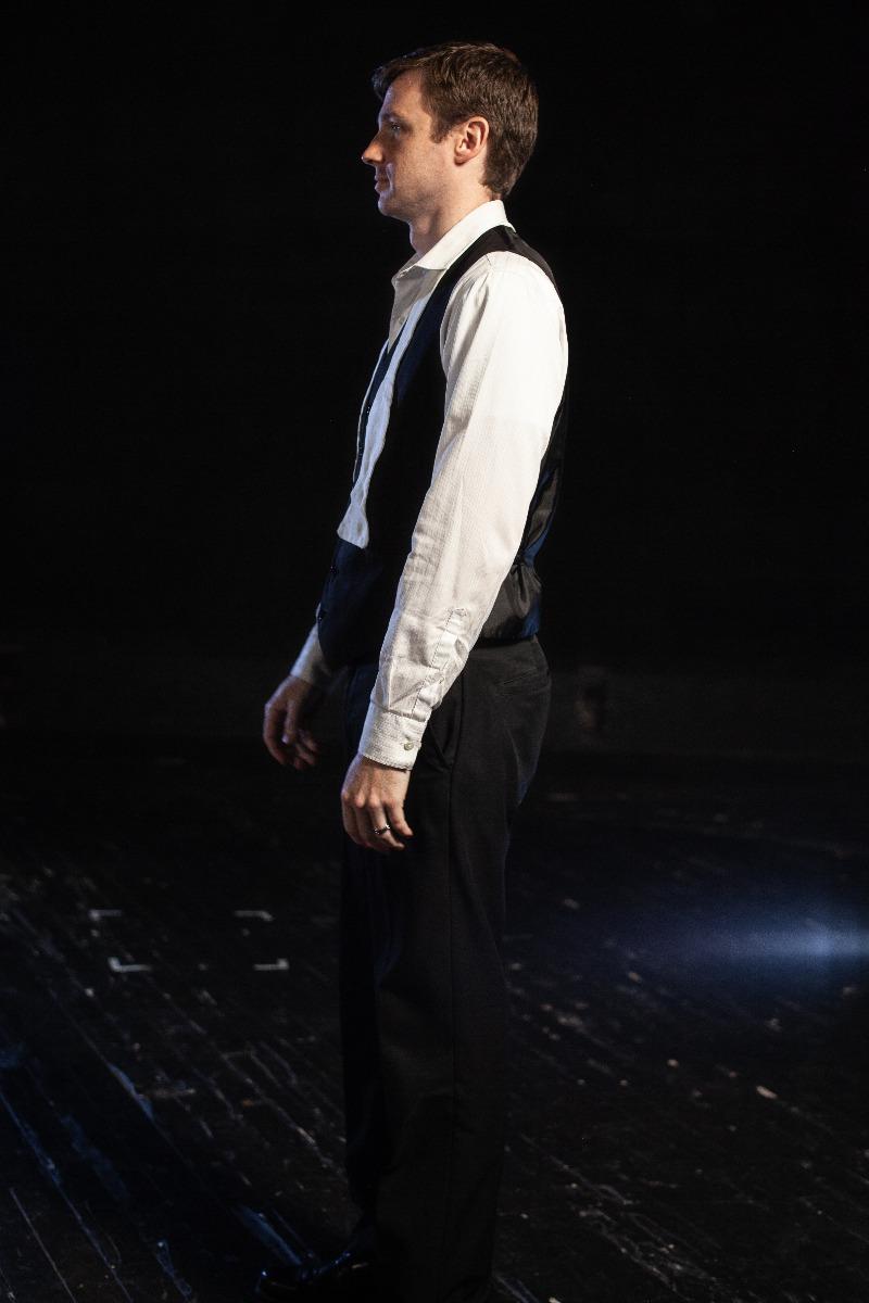 Bustle/Turn of the Century – Men's Full Outfit,  Black Vest