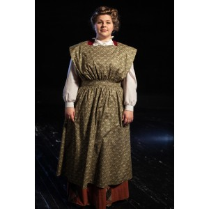 Bustle/Turn of the Century – Women's Full Outfit,  Green Apron 2