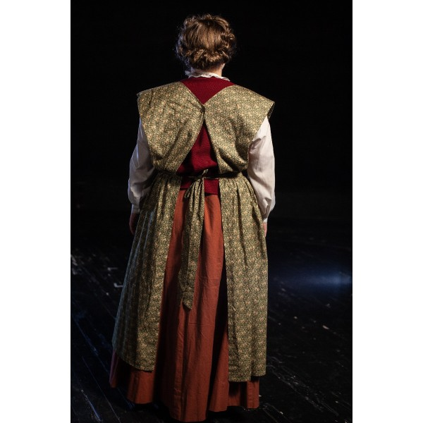 Bustle/Turn of the Century – Women's Full Outfit,  Burgundy