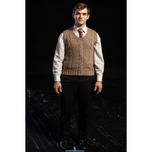Bustle/Turn of the Century – Men's Full Outfit,  Tan Vest 2