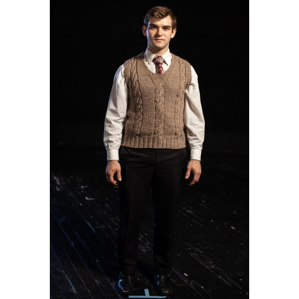 Bustle/Turn of the Century – Men's Full Outfit,  Tan Vest