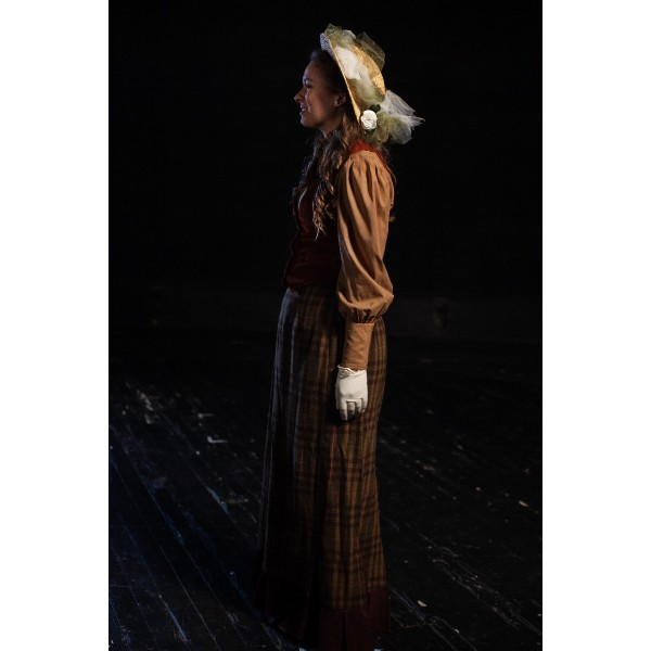 Bustle/Turn of the Century – Women's Full Outfit,  Burgundy and Green