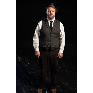 Bustle/Turn of the Century – Men's Full Outfit,  Lt Grey 2