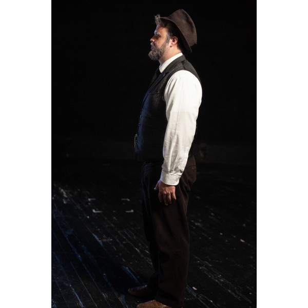 Bustle/Turn of the Century – Men's Full Outfit,  Lt Grey