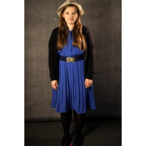 1940's – Women's Full Outfit,  Blue 2