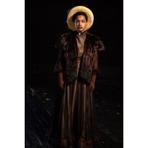 Bustle/Turn of the Century – Women's Full Outfit,  Brown and green 2